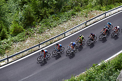 A strong group make their way up the final climb during Stage 9 of 2019 Giro Rosa Iccrea, a 125.5 km road race from Gemona to Chiusaforte, Italy on July 13, 2019. Photo by Sean Robinson/velofocus.com