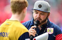 Match day presenter Ian Downs speaks to fans   - Mandatory by-line: Joe Meredith/JMP - 19/08/2017 - FOOTBALL - Ashton Gate Stadium - Bristol, England - Bristol City v Millwall - Sky Bet Championship