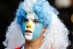 Argentina supporters in the stands - Mandatory byline: Rogan Thomson/JMP - 07966 386802 - 25/09/2015 - RUGBY UNION - Kingsholm Stadium - Gloucester, England - Argentina v Georgia - Rugby World Cup 2015 Pool C.