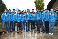 Alpint<br /> FIS World Cup<br /> Sölden Østerrike<br /> Foto: Gepa/Digitalsport<br /> NORWAY ONLY<br /> <br /> SOELDEN,AUSTRIA,21.OCT.16 - ALPINE SKIING - FIS World Cup season opening, Rettenbachferner, preview, Norges Skiforbund, men, press conference. Image shows Rasmus Windigstad, Patrick Vested, Marcus Morsen, Bjoernar Neteland, Peter Eide, Axel Patricksson, Kjetil Jansrud, Aksel Lund Svindal, Aleksander Aamodt Kilde, Leif Kristian Haugen and Henrik Kristoffersen (NOR).
