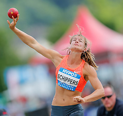 30.05.2015, Moeslestadion, Goetzis, AUT, 41. Hypo Meeting 2015, Siebenkampf der Frauen, Kugelstossen, im Bild Dafne Schippers (NED) // Dafne Schippers of Netherlands during the 41. Hypo Meeting Goetzis 2013, Women' s Heptathlon, Shot put, at the Moeslestadion, Goetzis, Austria on 2015/05/30. EXPA Pictures © 2015, PhotoCredit: EXPA/ Peter Rinderer