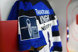 A general view of Anglo-Welsh Cup branding - Mandatory byline: Patrick Khachfe/JMP - 07966 386802 - 30/03/2018 - RUGBY UNION - Kingsholm Stadium - Gloucester, England - Bath Rugby v Exeter Chiefs - Anglo-Welsh Cup Final