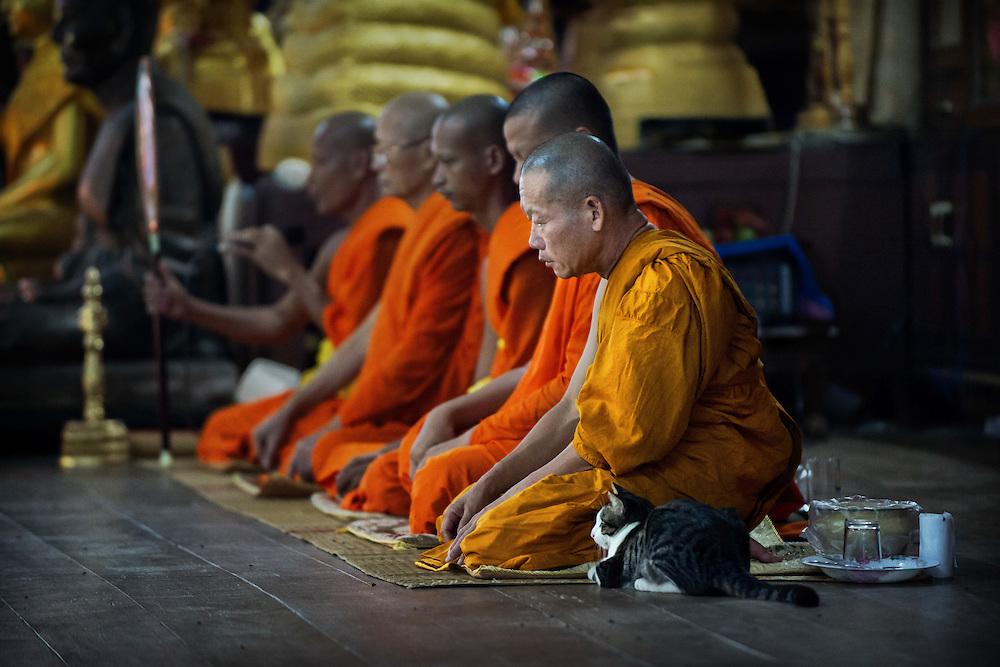 วันอาสาฬหบูชา, Khao Phansa Day, The beginning of Buddhist Lent, Nakhon Nayok, Thailand