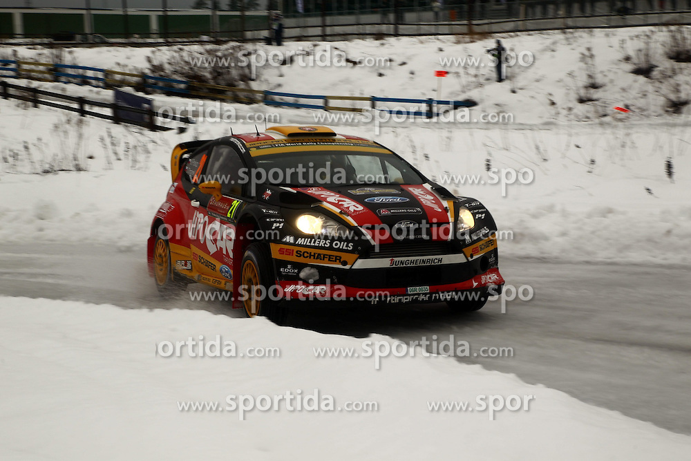 07.02.2014, Hagfors, Karlstad, SWE, FIA, WRC, Schweden Rallye, Tag 3, im Bild Martin Prokop/Michael Ernst (Jipocar Czech National Team/Fiesta RS WRC), Action / Aktion // during Day 3 of the FIA WRC Sweden Rally at the Hagfors in Karlstad, Sweden on 2014/02/07. EXPA Pictures &copy; 2014, PhotoCredit: EXPA/ Eibner-Pressefoto/ Bermel<br /> <br /> *****ATTENTION - OUT of GER*****