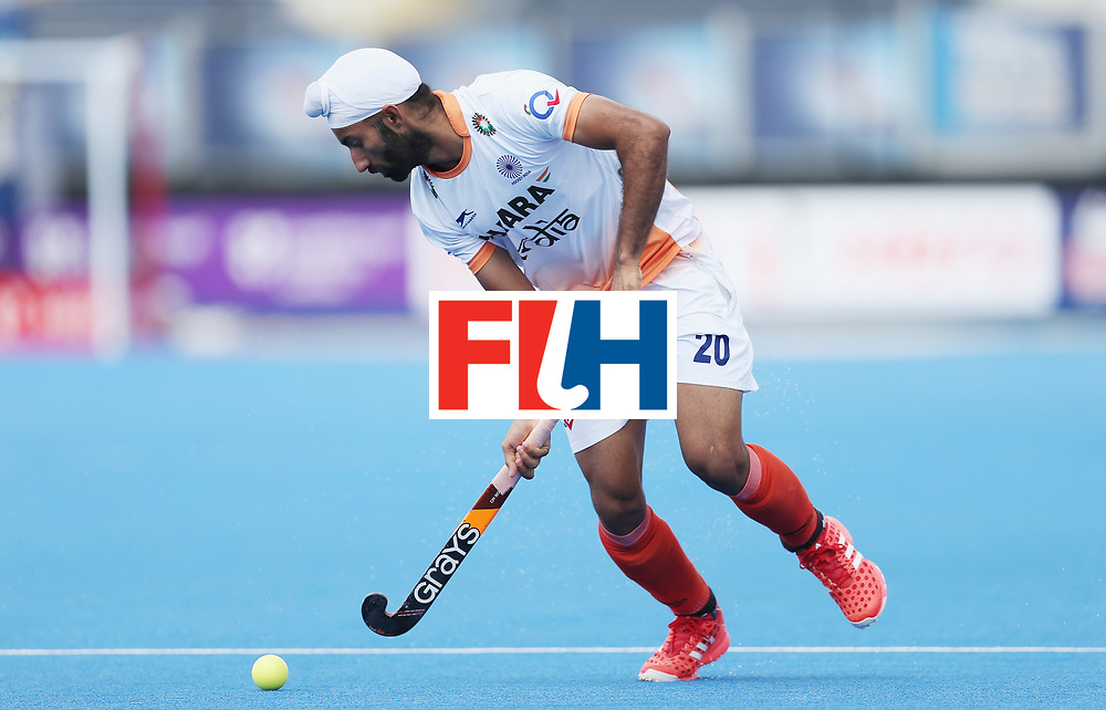 LONDON, ENGLAND - JUNE 15: Talwinder Singh of India  during the Hero Hockey World League Semi Final match between India and Scotland at Lee Valley Hockey and Tennis Centre on June 15, 2017 in London, England.  (Photo by Alex Morton/Getty Images)