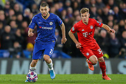 Chelsea midfielder Mateo Kovacic (17) and Bayern Munich defender Joshua Kimmich (32) during the Champions League match between Chelsea and Bayern Munich at Stamford Bridge, London, England on 25 February 2020.