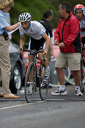 Eugene Boronow (GSM) during stage 1 of the Tour of Virginia.  The Tour of Virginia began with a 4.7 mile individual time trial near Natural Bridge, VA on April 24, 2007. Formerly known as the Tour of Shenandoah, the ToV has gained National Race Calendar (NRC) status for the first time in its five year history.