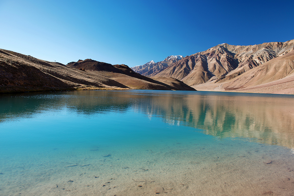 Chandratal Lake at Himachal Pradesh State of India