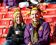 Hull City fans before the Sky Bet Championship match at Ashton Gate, Bristol<br /> Picture by Mike Griffiths/Focus Images Ltd +44 7766 223933<br /> 21/11/2015