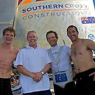 AUSTRALIA, Sydney Harbour, 22nd February 2009, JJ Giltinan Champions, Southern Cross Construction, (l-r) Trent Barnabas, Andrew Box (MD of Southern Cross Construction) Euan Mc Nicol and Aaron Links.