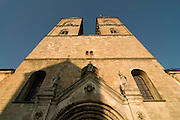 Huge church with two church towers. Tepla. Czech.