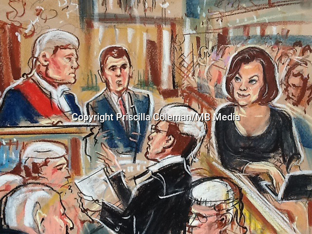 India Knight depicted observing a court room