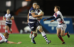 Bristol Rugby lock, Ben Glynn in action against London Scottish - Photo mandatory by-line: Paul Knight/JMP - Mobile: 07966 386802 - 05/12/2014 - SPORT - Rugby - Bristol - Ashton Gate - Bristol Rugby v London Scottish - B&I Cup