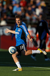 July 20, 2011; Santa Clara, CA, USA;  San Jose Earthquakes midfielder Bobby Convey (11) warms up before the game against the Vancouver Whitecaps at Buck Shaw Stadium.