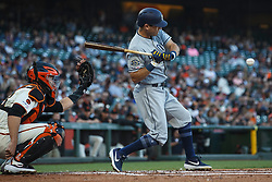 SAN FRANCISCO, CA - JUNE 12: Ian Kinsler #3 of the San Diego Padres at bat against the San Francisco Giants during the second inning at Oracle Park on June 12, 2019 in San Francisco, California. The San Francisco Giants defeated the San Diego Padres 4-2. (Photo by Jason O. Watson/Getty Images) *** Local Caption *** Ian Kinsler