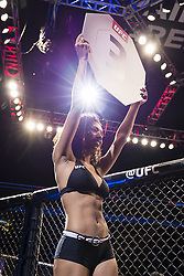 September 16, 2017 - Pittsburgh, Pennsylvania, USA - September 16, 2017: A view of UFC Octagon Girl between rounds during UFC Fight Night at PPG Paints Arena in Pittsburgh, Pennsylvania. (Credit Image: © Scott Taetsch via ZUMA Wire)