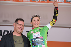 Lisa Brennauer in the points jersey after Boels Rental Ladies Tour Stage 1 a 132.8 km road race from Eibergen to Arnhem, Netherlands on August 30, 2017. (Photo by Sean Robinson/Velofocus)