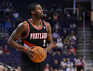 Oct. 12, 2012; Phoenix, AZ, USA; Portland Trail Blazers guard Wesley Matthews (2) handles the ball against the Phoenix Suns at US Airways Center. The Suns defeated the Trail Blazers 104-93.  Mandatory Credit: Jennifer Stewart-US PRESSWIRE.