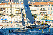 Team SAP. Day two of the Extreme Sailing Series at Nice. 3/10/2014