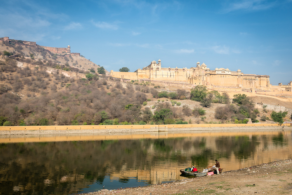 Facade of Amber Fort, Jaipur