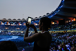 March 14, 2019 - Abu Dhabi, United Arab Emirates - Special Olympics Summer World Games Opening Ceremony in Zayed Sports City in Abu Dhabi, United Arab Emirates on March 14, 2019. Special Olympics is a worldwide organization which organize sports competitions for people with learning difficulties. Summer World Games take place every 4 years. 7500 athletes from over 190 countries participate in Abu Dhabi Games in 2019. (Credit Image: © Dominika Zarzycka/NurPhoto via ZUMA Press)