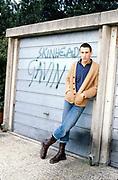 Gavin by garage. Hawthorne Road, high Wycombe, UK. 1980s.