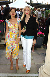Left to right, YASMIN MILLS and ALLEGRA HICKS at Michele Watches Kaleidoscope Summer Garden Party held at Home House, Portman Square, London on 15th June 2005.<br />