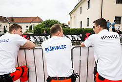First Aid during 5th Time Trial Stage of 25th Tour de Slovenie 2018 cycling race between Trebnje and Novo mesto (25,5 km), on June 17, 2018 in  Slovenia. Photo by Vid Ponikvar / Sportida
