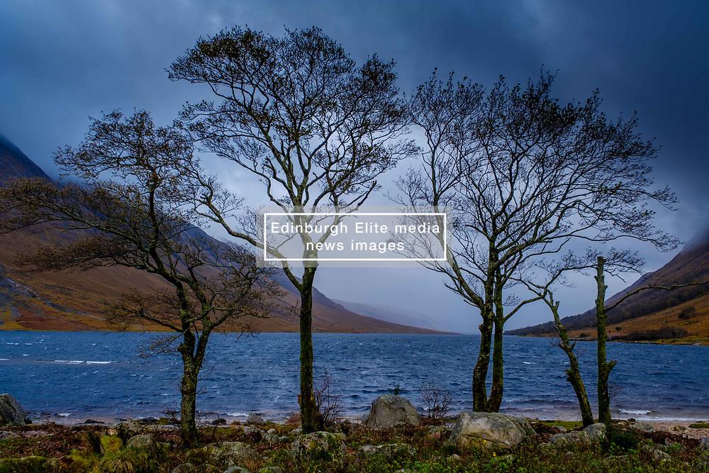 Stormy autumn weather in Glen Etive, Highlands of Scotland<br /> <br /> (c) Andrew Wilson   Edinburgh Elite media