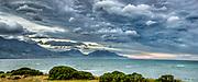 NW storm cloud panorama, Kaikoura, Canterbury, New Zealand.