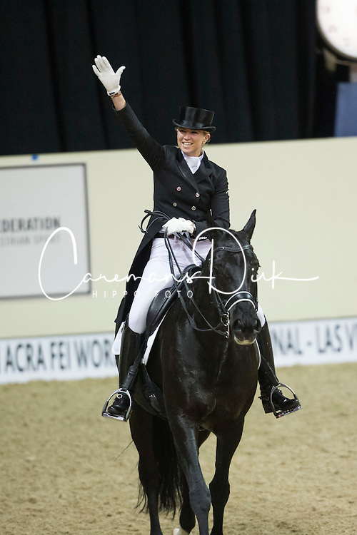 Barbancon Mestre Morgan, (ESP), Painted Black<br /> Reem Acra FEI World Cup&trade; Dressage Final<br /> Las Vegas 2015<br />  &copy; Hippo Foto - Dirk Caremans<br /> 16/04/15