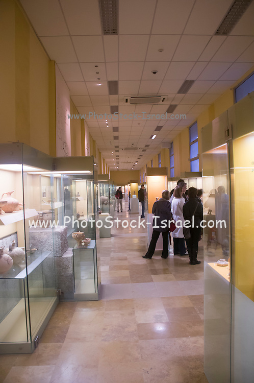 Greece, Athens, Interior of the Agora museum in the Stoa of Attalos