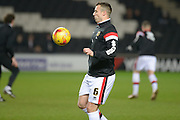 MK Dons defender Antony Kay during the Sky Bet Championship match between Milton Keynes Dons and Huddersfield Town at stadium:mk, Milton Keynes, England on 23 February 2016. Photo by Dennis Goodwin.