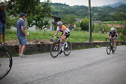 Lucinda Brand (NED) of Rabo-Liv Cycling Team rides up on the day's main climb during the Giro Rosa 2016 - Stage 1. A 104 km road race from Gaiarine to San Fior, Italy on July 2nd 2016.
