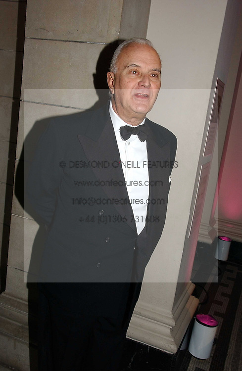 MANOLO BLAHNIK at the British Fashion Awards 2006 sponsored by Swarovski held at the V&A Museum, Cromwell Road, London SW7 on 2nd November 2006.<br />