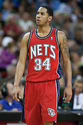 November 27, 2009; Sacramento, CA, USA;  New Jersey Nets guard Devin Harris (34) during the third quarter against the Sacramento Kings at the ARCO Arena. Sacramento defeated New Jersey 109-96.