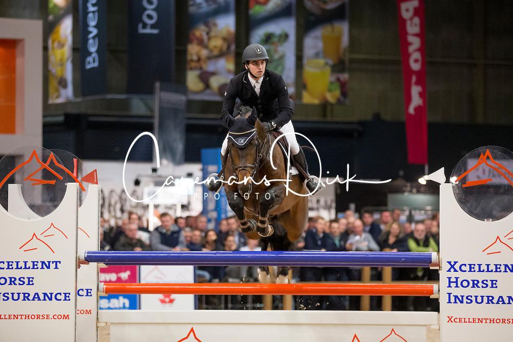 Houwen Kristian, (NED), Edinburgh<br /> Springen Klasse Z-ZZ<br /> KWPN Hengstenkeuring - 's Hertogenbosch 2016<br /> © Hippo Foto - Dirk Caremans<br /> 04/02/16