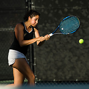 05 February 2018: The San Diego State Aztecs women's tennis team hosts Point Loma Nazarine monday afternoon. <br /> More game action at www.sdsuaztecphotos.com