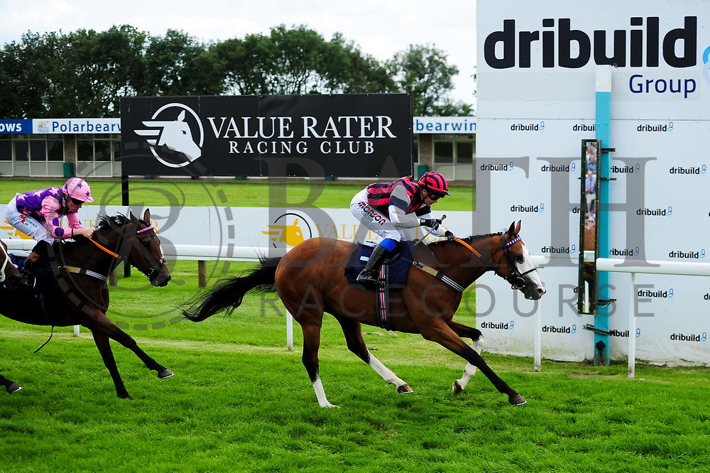Champs De Reves ridden by Megan Nicholls and trained by Michael Blake in the Weatherbys Racing Bank Foreign Exchange Handicap (Class 4) race. - Ryan Hiscott/JMP - 21/08/2019 - PR - Bath Racecourse - Bath, England - Race Meeting at Bath Racecourse