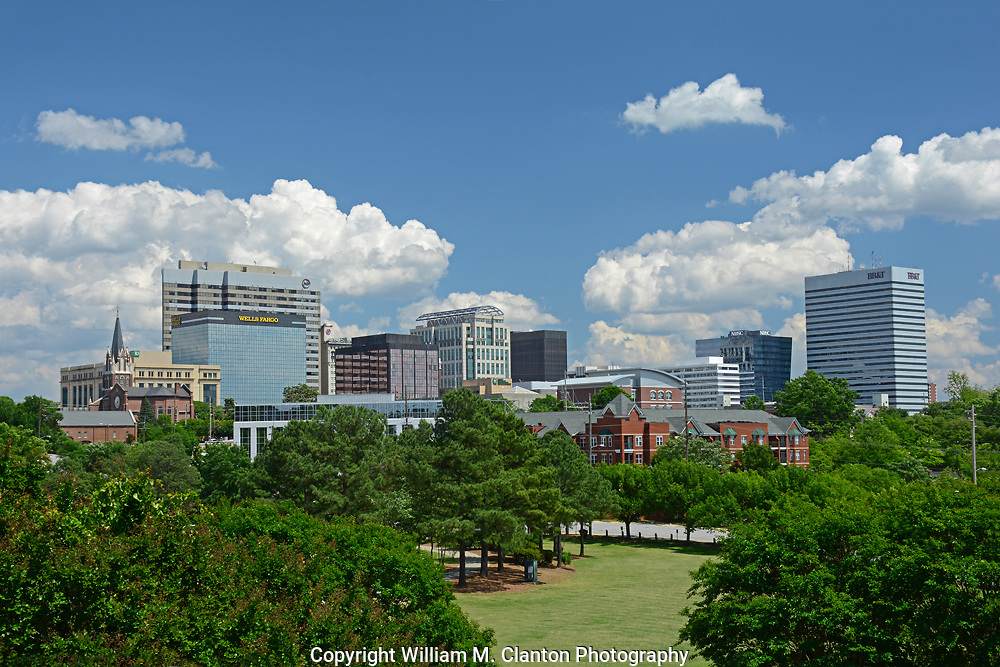 Columbia SC skyline on a beautiful summer day!