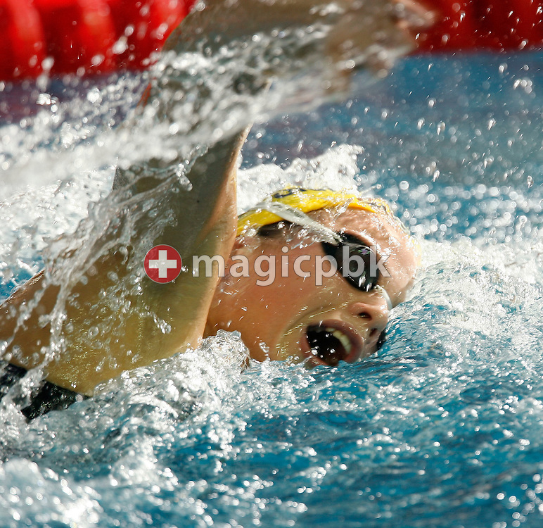 Laure MANAUDOU of France on her way winning the gold medal and setting a new world record in the timed final of the women's 800m Freestyle, during the European Swimming Short Course Championships on December 9, 2005, in Trieste, Italy. (Photo by Patrick B. Kraemer/MAGICPBK)