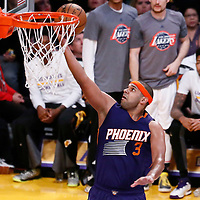 06 November 2016: Phoenix Suns forward Jared Dudley (3) goes for the layup during the LA Lakers 119-108 victory over the Phoenix Suns, at the Staples Center, Los Angeles, California, USA.