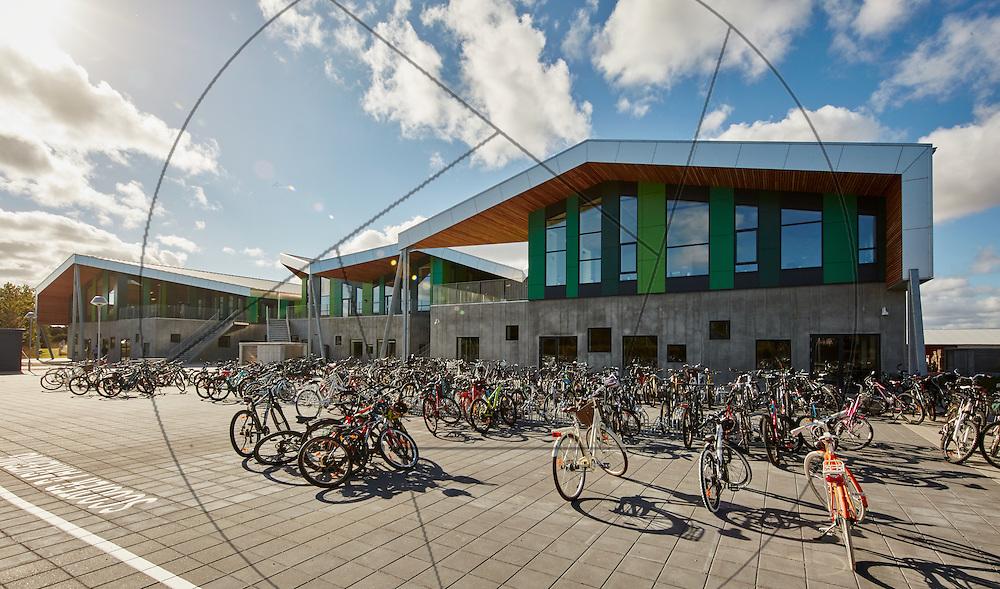 Aabybro Ny Skole, åbning af ny folkeskole, Aabybro ved Ålborg, ny skole tilpasset folkeskolereformen, Bygherre: Jammerbugt Kommune , eksteriør, facader