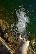 Well water is pumped in to a man made lake in the Sonoran Desert, Tucson, Arizona, USA.
