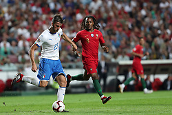 September 10, 2018 - Lisbon, Portugal - Italy's midfielder Bryan Cristante (L) vies with Portugal's midfielder Renato Sanches during the UEFA Nations League A group 3 football match Portugal vs Italy at the Luz stadium in Lisbon, Portugal on September 10, 2018. (Credit Image: © Pedro Fiuza/ZUMA Wire)