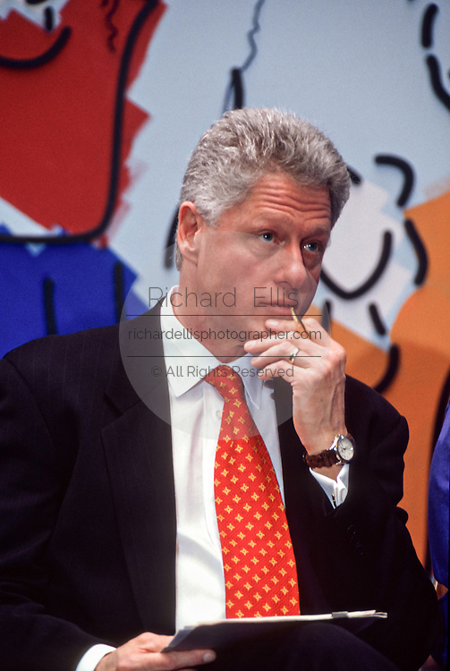 President Bill Clinton during an event at National Children's Hospital February 18, 1998 in Washington, DC.  (photo by Richard Ellis)