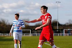 Corinne Yorston of Bristol City Women gestures - Mandatory byline: Rogan Thomson/JMP - 14/02/2016 - FOOTBALL - Stoke Gifford Stadium - Bristol, England - Bristol City Women v Queens Park Rangers Ladies - SSE Women's FA Cup Third Round Proper.
