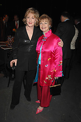 PATRICIA HODGE and RUTH MORLEY widow of Sheridan Morley at Fast Forward - a fund-raising party for the National Theatre held at The Roundhouse, London NW1 on 1st March 2007.<br />