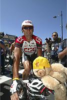 CYCLING - TOUR DE FRANCE 2004 - STAGE 11 - SAINT FLOUR > FIGEAC - 15/07/2004 - PHOTO : NICO VEREECKEN / DIGITALSPORT    <br /> BOBBY JULICH (USA) / TEAM CSC