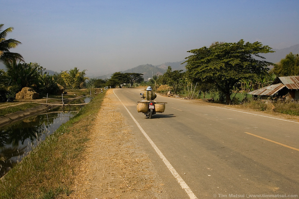 Farmland near Mae Sai, Thailand, on the Thai/Burma border.